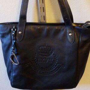 Ralph Lauren Black Tote/ Shoulder Bag/ Purse